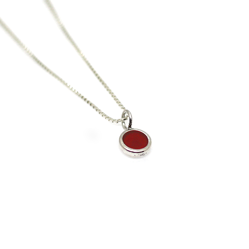 mini simple red necklace