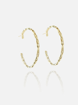 breaking waves hoop earring
